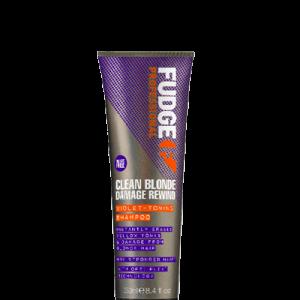 Fudge Clean Blonde Damage Rewind Violet-Toning Atkuriamasis spalvą tonuojantis šampūnas