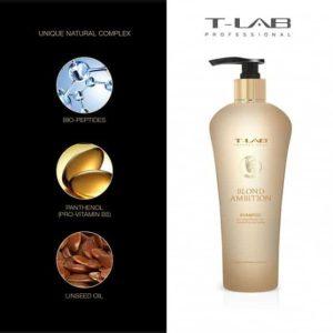 T-lab blond ambition šampūnas šviesintiems plaukams