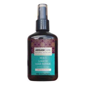Arganicare Keratin 10 in 1 Leave in hair repair- Nenuplaunams plaukų purškiklis su 10 veikimo galimybių su keratinu