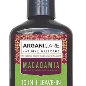 Arganicare Macadamia 10 in 1 Leave in hair repair- Nenuplaunams plaukų purškiklis su 10 veikimo galimybių su makadamijos ir argano aliejais