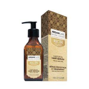 Arganicare Ricin oil Hair Serum for all types hair- Plaukų serumas su ricinos aliejumi.