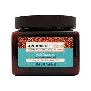 Arganicare Hair masque for colored and highlighted hair-atstatanti plaukų kaukė dažytiems ar šviesintiems plaukams