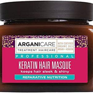 Arganicare Keratin hair masque – Profesionali plaukų kaukė su keratinu