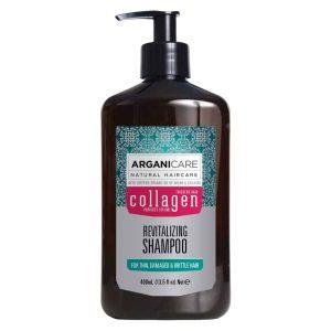 Arganicare revitalizing shampoo-Atgaivinantis šampūnas su kolagenu