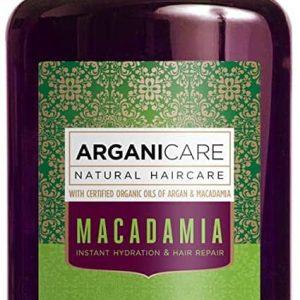 Arganicare Macadamia shampoo for dry and damaged hair- Plaukų struktūrą atstatantis ir plaukus maitinantis šampūnas