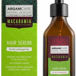Arganicare Macadamia oil Hair Serum for all types hair- Plaukų struktūrą atstatantis ir plaukus maitinantis serumas