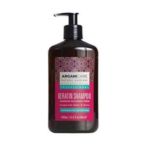 Arganicare Keratin shampoo - Profesionalios priežiūros šampūnas su keratinu