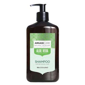 Arganicare Šampūnas su alijošiumi riebioms plaukų šaknims ir sausiems plaukų galiukams.