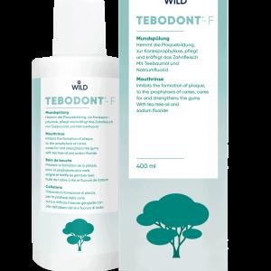 Tebodont-F burnos skalavimo skystis su arbatmedžio aliejumi ir fluoru